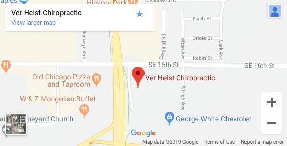Ames IA Chiropractic Map